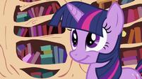 Twilight Sparkle with a grin S2E03