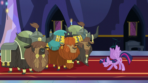 Twilight bows to Prince Rutherford S5E11