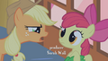 AJ scolds Apple Bloom for saying Zecora's name S1E09.png