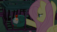 Fluttershy petting powerless cockatrice S8E25