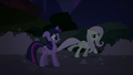 Fluttershy skating on the soapy road S2E02.png