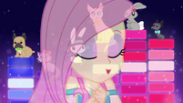 Fluttershy vocalizing in front of animals EGDS26