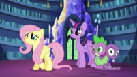 Fluttershy with Twilight and Spike S5E21