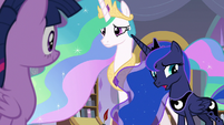 "Luna ""we came to talk to you about"" S9E17"