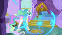 Luna teleports out of Celestia's bedroom S9E13
