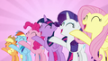"""Mane Six sing together """"we're not flawless"""" S7E14.png"""