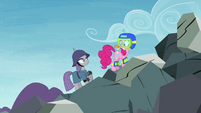 Maud Pie saving Pinkie Pie S4E18