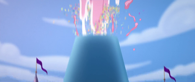 File:Party cannon shooting cake into the air MLPTM.png