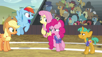 Pinkie Pie --Braeburn is really good!-- S6E18