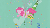 Pinkie Pie floating upward S1E03