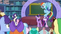Rainbow Dash recalling Sonic Rainboom S8E17