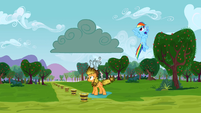 Rainbow Dash whistling innocently S3E8