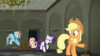 Rarity --I can't have a family of rubbish-scented raccoons-- S6E9