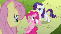Rarity holding Pinkie S02E19