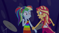 Sunset Shimmer tells Rainbow to stop EGSB