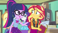 Twilight Sparkle comforting Sunset Shimmer EGFF