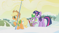 Applejack holds a flag S1E11