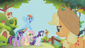 Applejack marshaling her friends S1E10.png