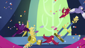 Birds knock over trophies S5E3.png