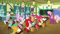 Cheerilee speaking to school foals S6E14