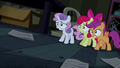 Cutie Mark Crusaders cowering in fear S5E6.png
