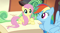 Fluttershy and Rainbow on the train S4E22