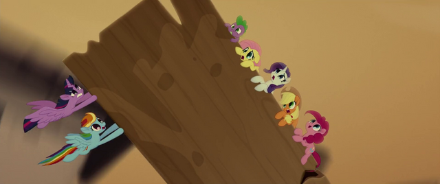 File:Mane Six and Spike on a runaway windmill MLPTM.png