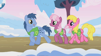 Noteworthy, Cheerilee, and Cherry Berry singing S01E11