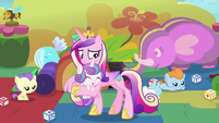Princess Cadance stops Flurry Heart using magic S7E22