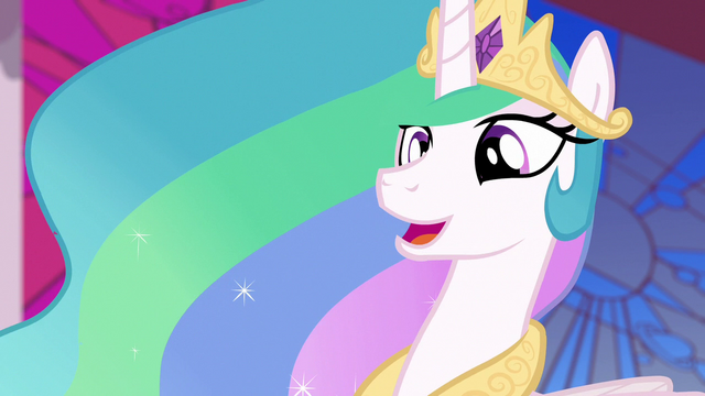 "File:Princess Celestia ""did she now?"" S7E10.png"