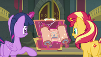 Princess Twilight revealing an ancient scroll EGFF