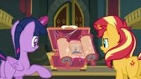 Princess Twilight revealing an ancient scroll EGFF