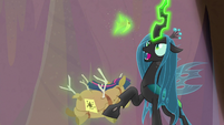 Queen Chrysalis takes Twilight doll's crown S9E8