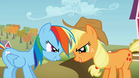 Rainbow Dash and Applejack being competitive S01E13