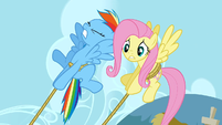 Rainbow Dash saving the cake S2E24