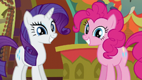 Rarity and Pinkie Pie very happy S6E12