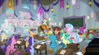 Rockhoof evacuating the students S8E21