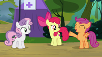 "Scootaloo ""full of ponies who are interested"" S7E21"