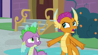 "Smolder ""a fire-breathing competition"" S8E21"