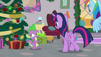 Spike looking embarrassed S8E16