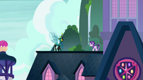 Starlight and Chrysalis on school's roof S9E24