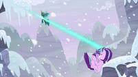 Starlight blasts the snow over Chrysalis S9E24