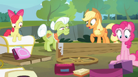 The Apples and Pinkie sees the damage S4E09