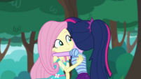 Twilight Sparkle hugging Fluttershy CYOE3b