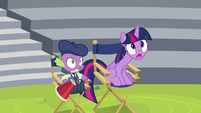 Twilight and Spike in complete shock S8E7