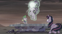 Twilight and Spike sees Starlight about to zap the Cutie Map S5E26