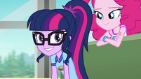Twilight putting on a fake smile EG4