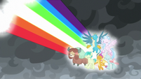 Young Six releasing a rainbow of light S9E25