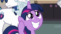 Young Twilight Sparkle filled with pride S9E4