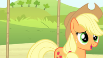 Applejack gets off the swing S4E20